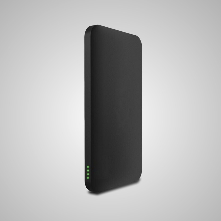 CH6313 portbable slim sucker power bank with rubber 5000mah